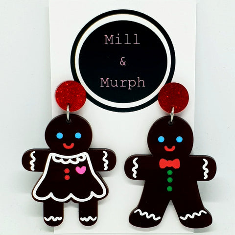 Mr & Mrs Gingerbread Man Dangles