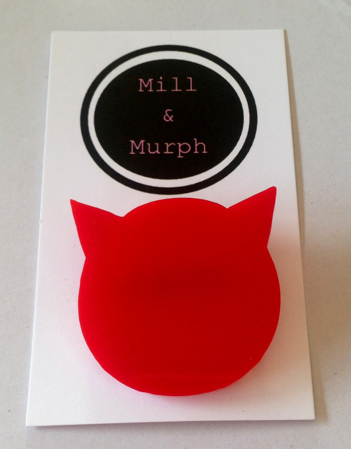 Cat Head Badge - SELECT COLOUR