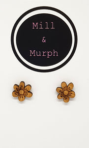 Spring Blossom Bamboo Studs