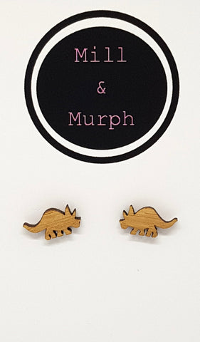 Triceratops Bamboo Studs