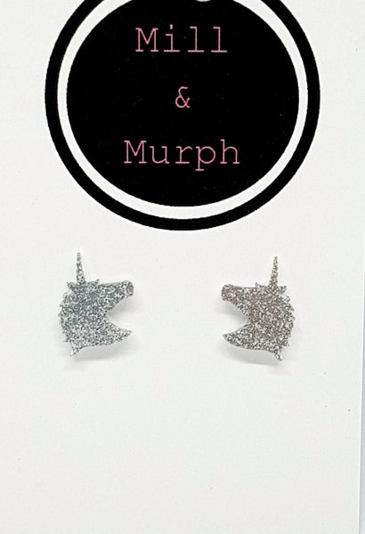 Unicorn Studs - CHOOSE COLOUR
