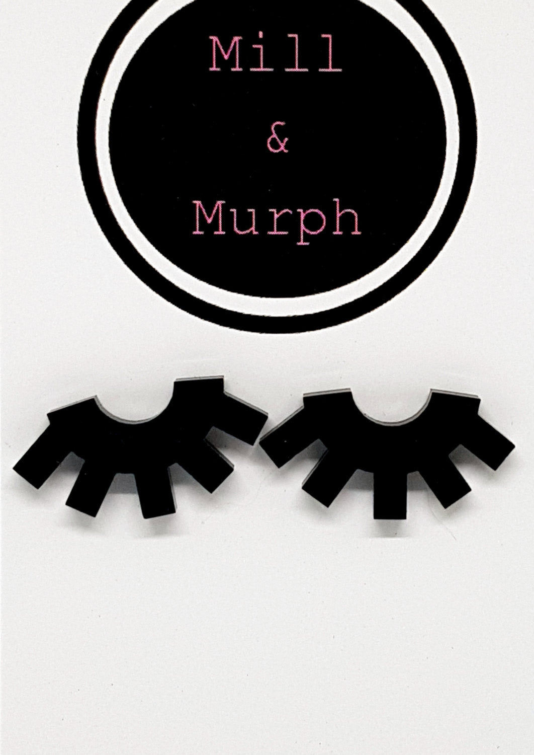 Eyelashes Sleepy Eyes Studs - SELECT COLOUR