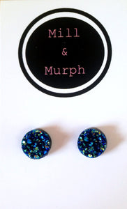 Moon Rock Resin Studs - CHOOSE COLOUR