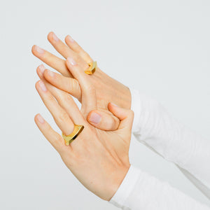 Bowed Ring - Gold Vermeil