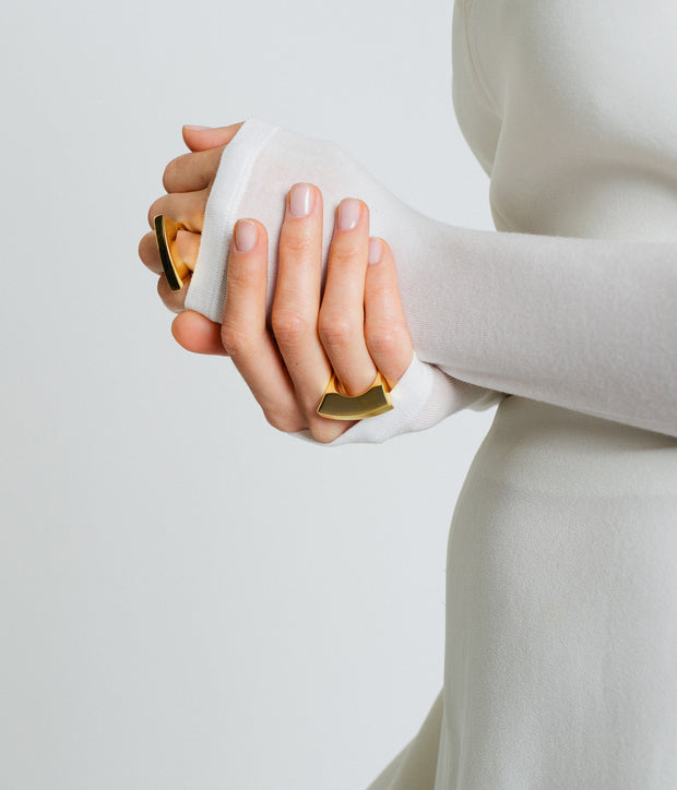 Bowed Ring - Gold Vermeil 1