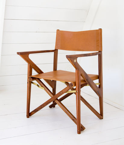 Baker's Modern Safari Chair - Mugavu & Caramel Leather