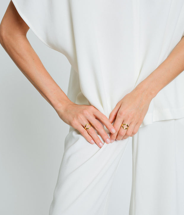 Curved Ring - Gold Vermeil 1