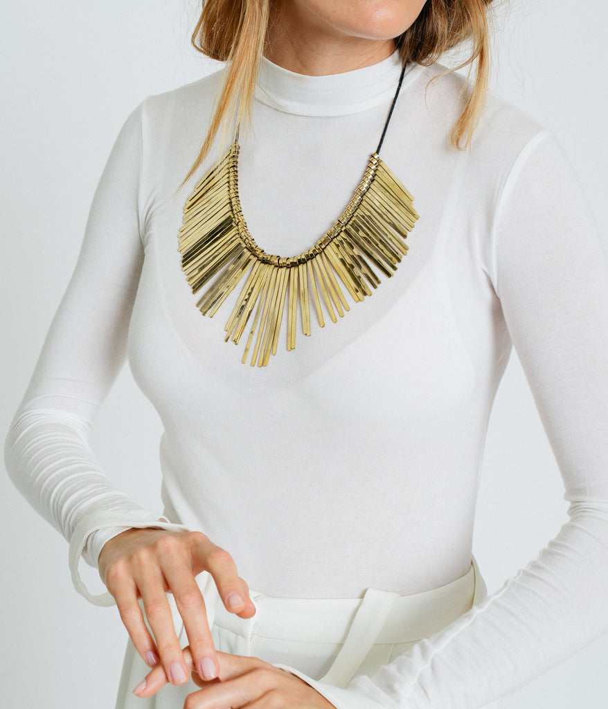 Golden Spikes Necklace