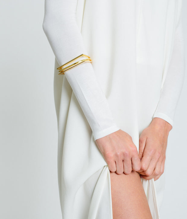 Half Moon Bangle - Gold Vermeil 1