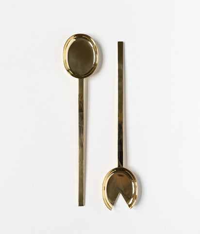 Pure Brass Serving Spoon Set - Rose & Fitzgerald