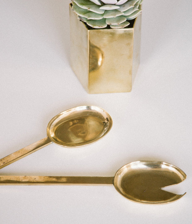 Pure Brass Serving Spoon Set 1