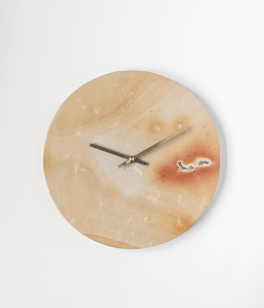 Soapstone & Brass Wall Clock,  - Rose & Fitzgerald