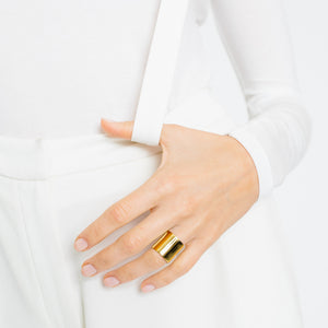 Shield Ring - Gold Vermeil