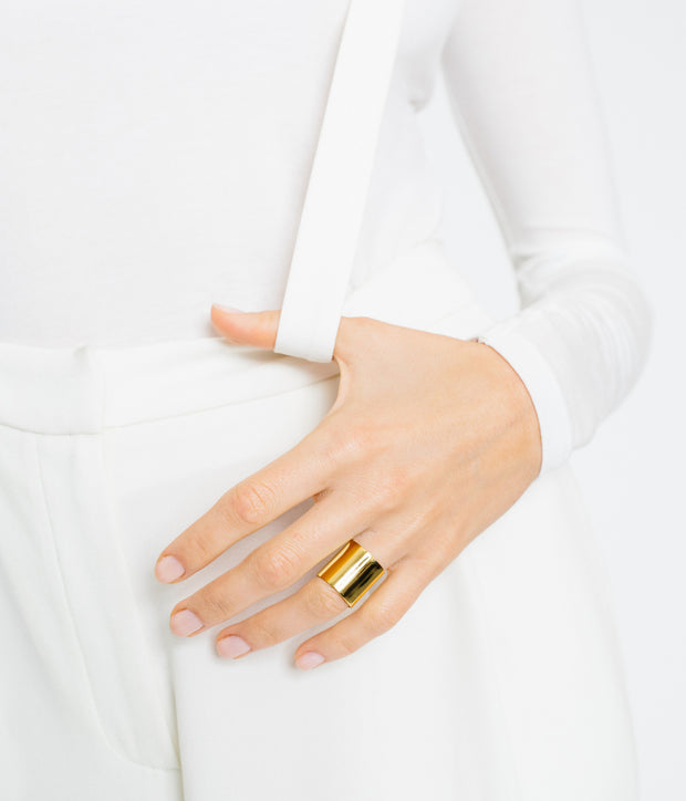 Shield Ring - Gold Vermeil 1