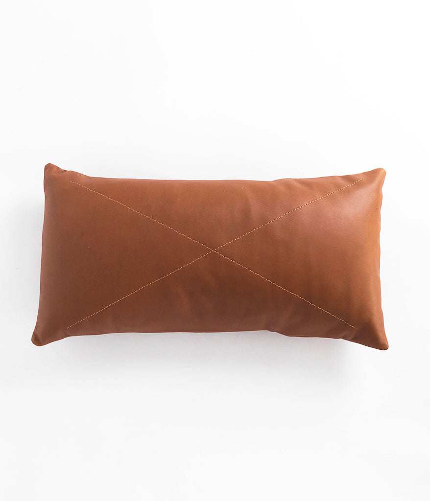 Leather Safari Lumbar Pillow - Rose & Fitzgerald