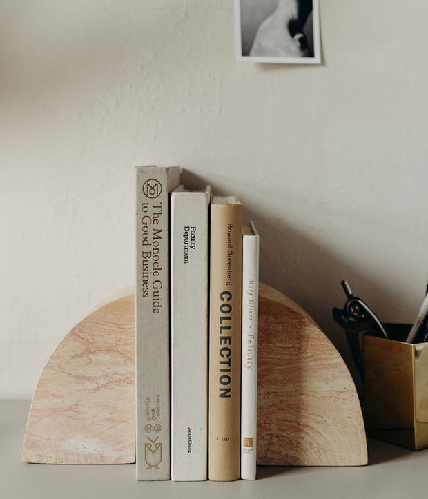 Soapstone Curved Bookend Set 1