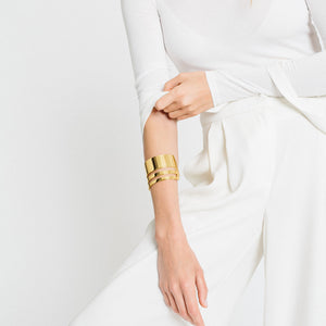 Triple Band Cuff - Gold Vermeil