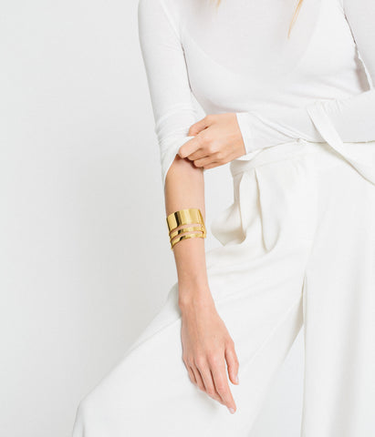 Triple Band Cuff - Gold Vermeil - Rose & Fitzgerald