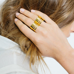 Triple Band Ring - Gold Vermeil