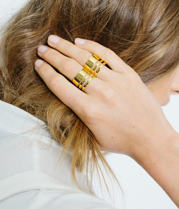 Triple Band Ring - Gold Vermeil 1