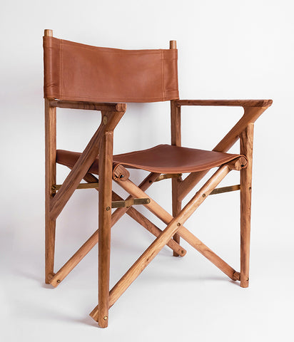 Baker's Modern Safari Chair - Teak,  - Rose & Fitzgerald