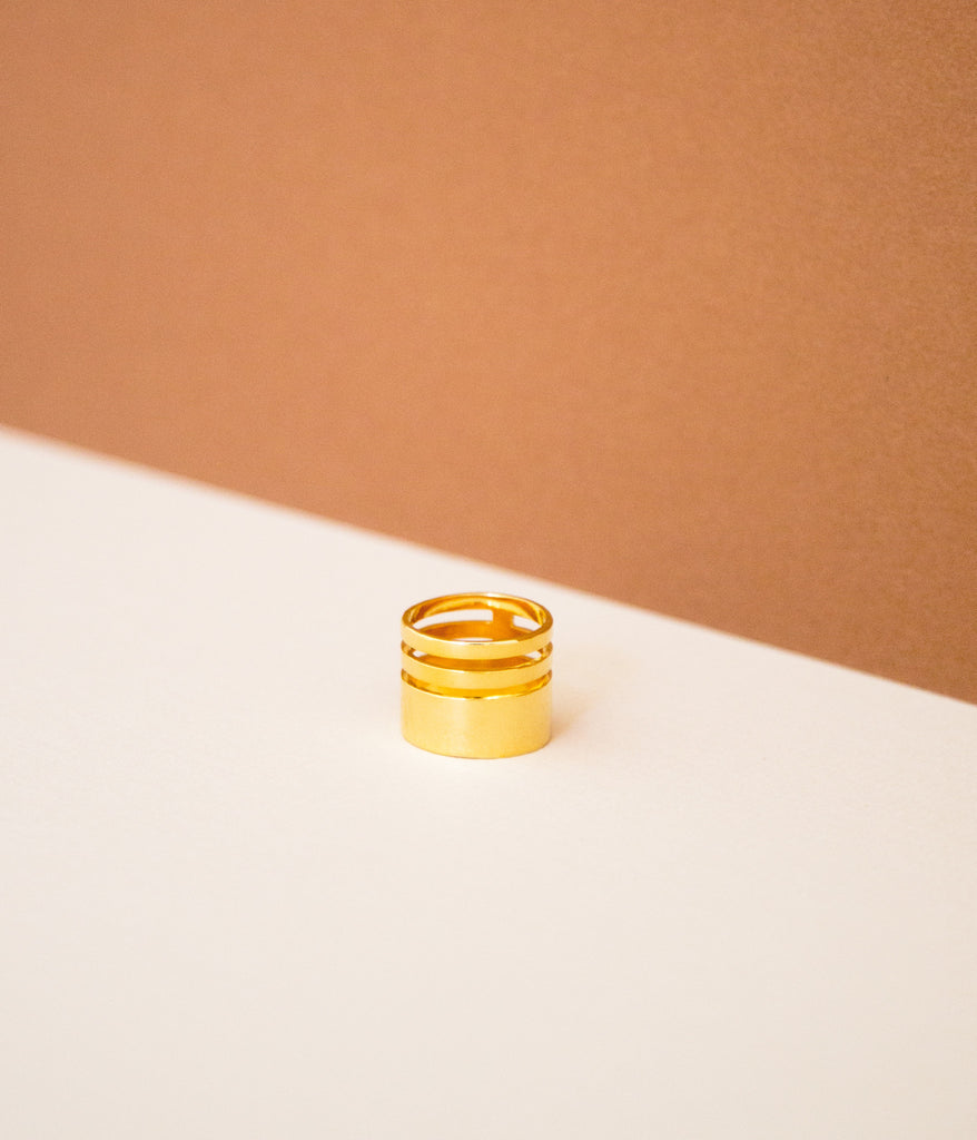 Triple Band Ring - Gold Vermeil - Rose & Fitzgerald