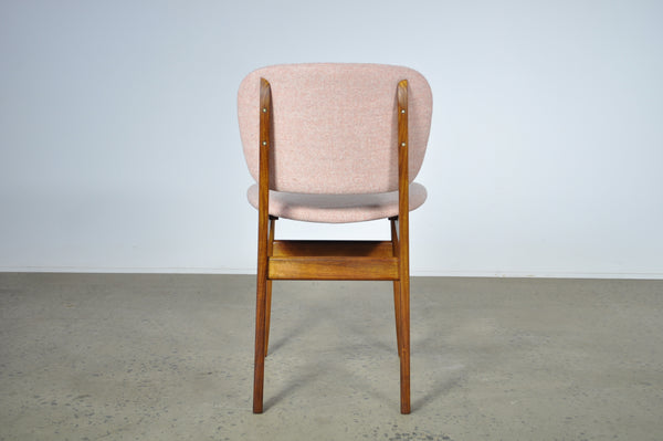 Elite dining chairs in a Camira fabric. Set of four.