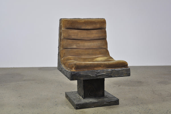Paul Evans sculptured bronze chair - Case 22