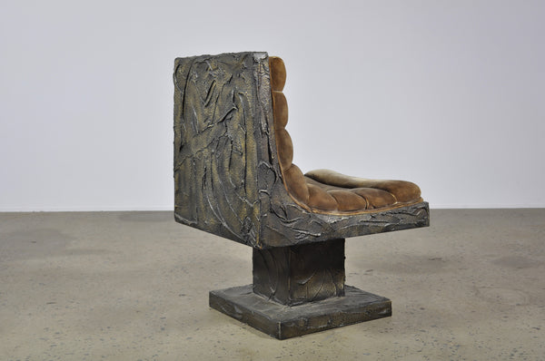 Paul Evans sculptured bronze chair