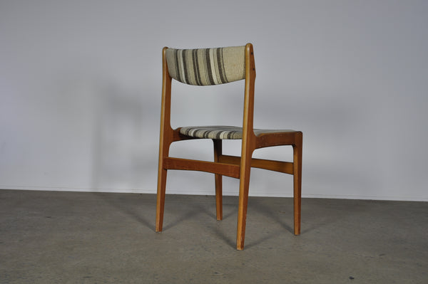 Erik Buch Teak dining chairs. (Under restoration).