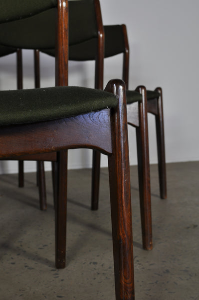 Danish Oak dining chairs. Set of 6.