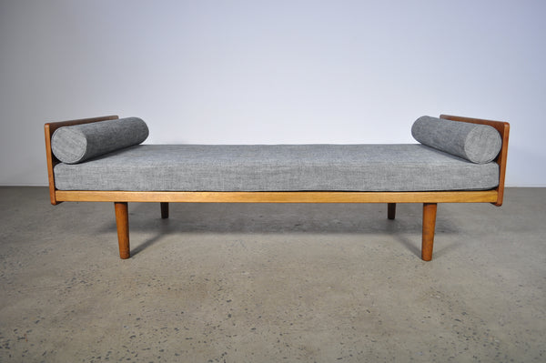 Danish Daybed by Ejvind A. Johansson. Fabric by Warwick.