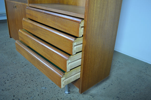 Danish teak wall unit.