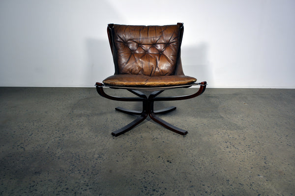 Falcon armchair by Sigurd Ressel. In Rosewood.