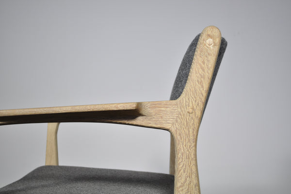 Danish dining chairs with soap finish.