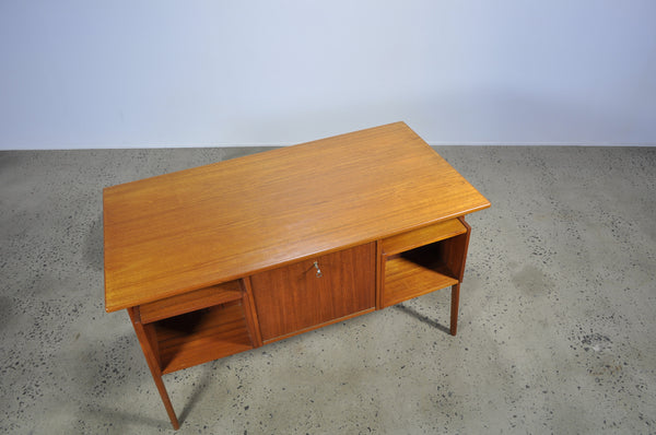 Teak Danish library desk