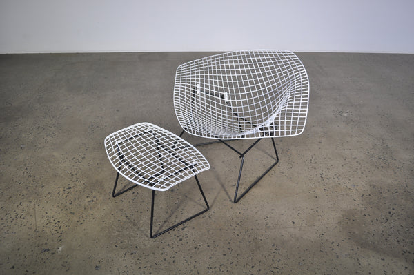 Knoll large diamond chair by Bertoia.