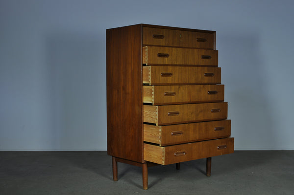 Danish chest of seven drawers.