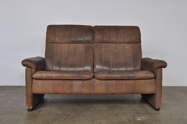 Two Seat De Sede Lounge Leather Sofa,.