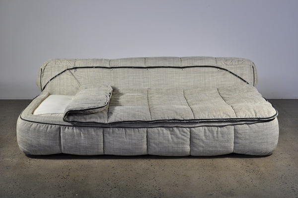 "Arflex ""Strips"" Sofa bed and single seat chair by Cini Boeri."