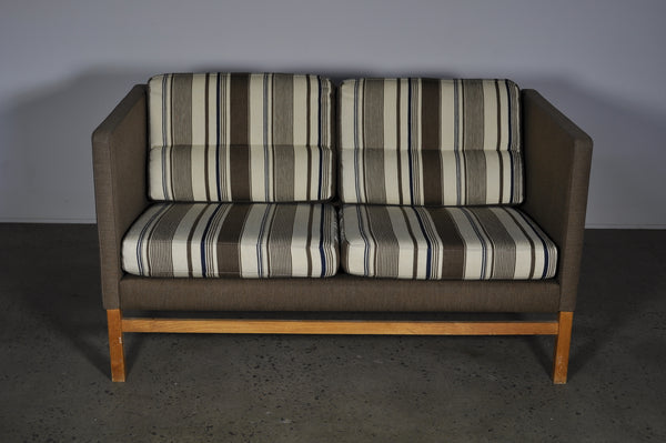 Danish two seat sofa in wool.