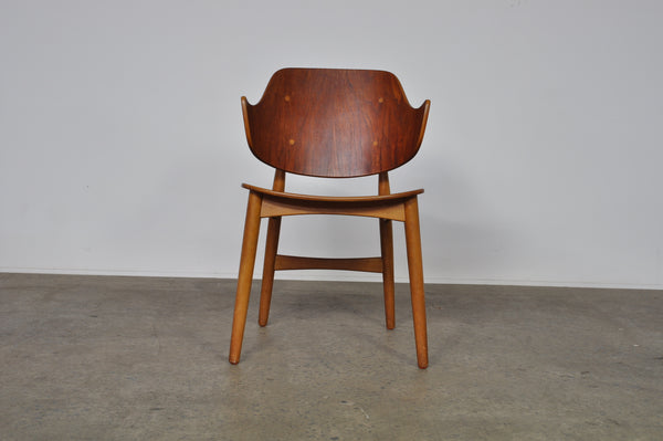 Jens Hjorth Teak and Oak Model 307 Side Chair.