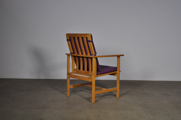 Børge Mogensen 2257 model armchair in Purple.