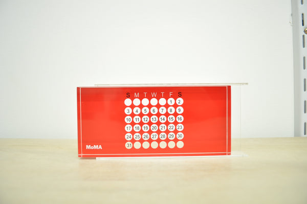 MoMA Acrylic Perpetual Calendar in Red.