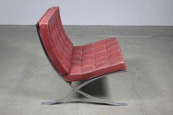 Knoll Barcelona Red Leather - Case 22