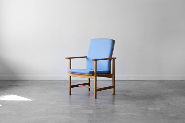 Børge Mogensen 2257 model armchair in Blue