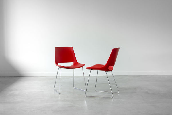 "Arper ""Palm"" Dining Chairs."