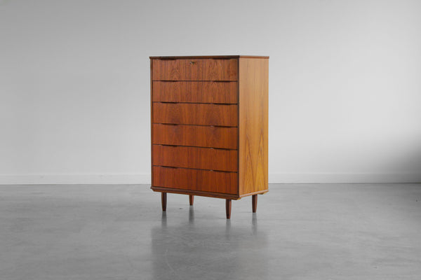 Danish Chest of six drawers in teak.