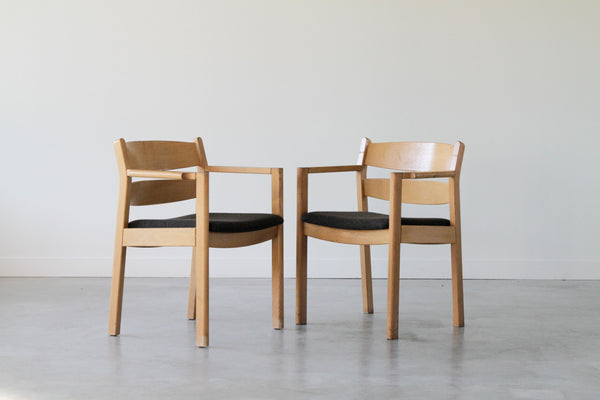 Kurt Østervig Oak Dining Chair in grey. Set of 8. (Under restoration)