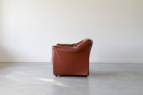 Mario Bellini for Cassina leather lounge chairs.